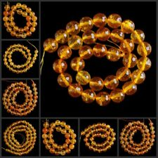 V1094-1098 Wholesale Faceted Burst Visionary Crystal Ball Loose Beads 15""