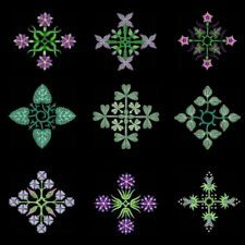 Anemone Quilt Squares 7 Machine Embroidery CD-36 Designs-By Anemone Embroidery