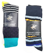 10 Beverly Hills Polo Club Mens Dress Socks Assorted Colors Shoe Size 6-12