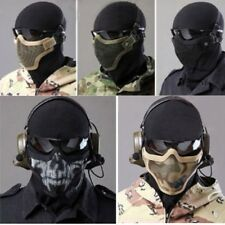 Airsoft Mask Metal Mesh Half Face Protection Outdoor Paintball Tactical Strike