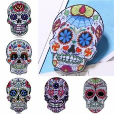 Colorful Boho Skull Printing Brooch Pin New Year Family Gift Women Jewelry New