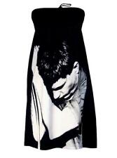 IAN CURTIS Joy Division Punk Rock Photo PRINTED Strapless DRESS - Made In USA.