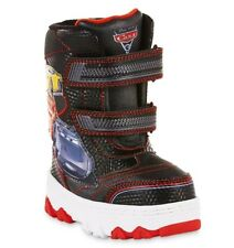 DISNEY CARS McQUEEN STORM Waterproof Insulated Snow Boots Size 7 8 9 10 11 or 12