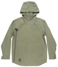 Grizzly Griptape Para Trooper Hooded Elongated Jacket Outerwear Skate Mens Olive
