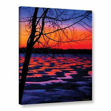 Mark Goodhew's 'Winter Lake Sunrise' Gallery Wrapped Canvas
