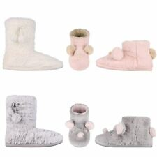 Women Fur Slippers Fluffy Soft Slip On Warm Winter Ankle Boots Booties Xmas Gift