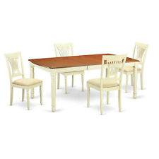 DOPL5-WHI  5 PC dinette Table set -Kitchen dinette Table and 4  Chairs