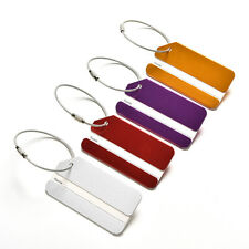Aluminum Metal Luggage Tags Labels Strong Baggage Holiday Travel Identity TB