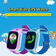 "1.44"" LCD Kids Smart Watch Phone SOS GPS Tracker Children Locator Finder B5X4"