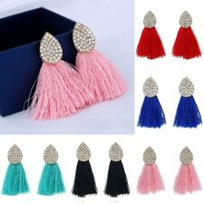 Fashion Charm Boho Crystal Tassel Drop Dangle Earrings Women Jewelry Gift Hot