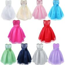 Flower Girl Sequined Pageant Communion Formal Wedding Bridesmaid Princess Dress