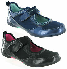 Mercury Fashion Patent Look Casual Touch Fastener Womens Shoes Trainers Size 3-8