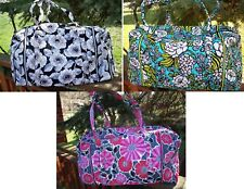 VERA BRADLEY Large Duffel Travel Bag Camellia Cheery Blossom Island Blooms