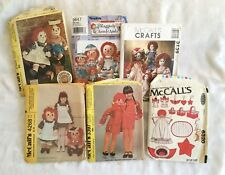 "CLASSIC RAGGEDY ANN & ANDY DOLLS SEWING PATTERN S9447 SIZES 15"", 26"". 36"" UNCUT"