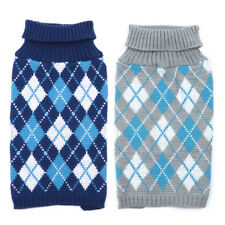 Small Dog Clothes Pet Winter Plaid Sweater Puppy Clothing Warm Apparel Coat