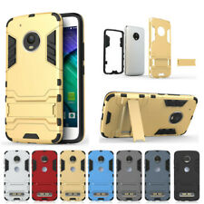 New Shockproof Rubber Hard Armor Hybrid Stand Case Cover For Motorola Moto Phone