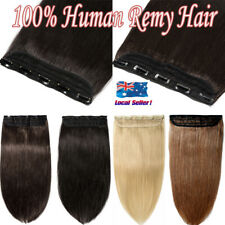 AAAAAAA+ Clip in Human Hair Extensions ONE PIECE Weft 100% Real Remy Hair Blonde