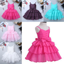 Flower Girl Princess Dress Kid Baby Party Wedding Pageant Formal Bowknot Dresses