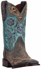 Dan Post CC BLUEBIRD Women's Copper-Turquoise Handcrafted Leather Stockman Boots