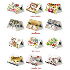 3pcs Cartooon Cat Cute Magnetic Bookmark Paper Book Mark Bookmarks Stationery #5