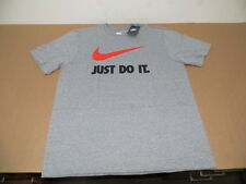 Nike JUST DO IT Swoosh Men's Basic T-Shirt Gray (AVAIL Sizes S-2XL) NEW
