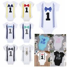 Baby Boy Girl 1st First Birthday Romper Bodysuit Photography Prop Costume Outfit