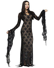Addams Family Morticia Addams Miss Darkness Vampire Witch Halloween Costume