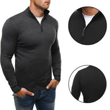 Solid color knit shirt High-necked knitwear Men's woolen sweater  Casual style