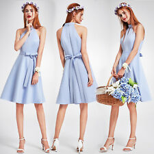 Ever Pretty Blue Bridesmaid Dress Short Cocktail Dress Prom Evening Party Gowns