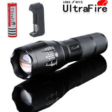 UltraFire 50000LM XML T6 Zoomable LED Flashlight Torch&18650Battery+Charger Clip