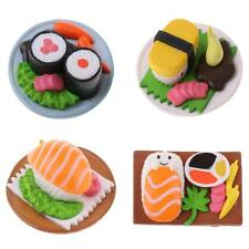1/12th Dollhouse Vivid Japanese Food Sushi in Plate Miniature Dining Table Décor