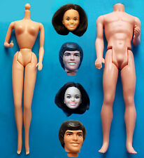 "1977 CELEBRITY BARBIE & KEN 11"" mattel doll -- DONNY & MARIE OSMOND -- HEAD BODY"