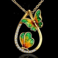 Crystal Drop Butterfly Flower Pendant Necklace Jewelry Valentine's Day Gift New