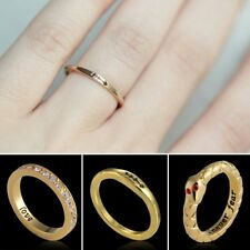 Women Fashion Letter Love Forever Gold CZ Snake Arrow Ring Jewelry Gift Size 7