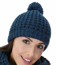 Ladies Glitter Crochet Beanie Hat With Pom-Pom-Winter Thermal Hat