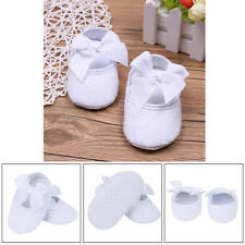 Newborn Baby Girls Baptism Shoes Cotton Floral Christening Crib Booties SZ 0-9M