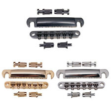 12-String Electric Guitar Roller Saddles Bridge Tailpiece with Post for EPI