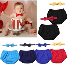 Solid Baby Boys Birthday Cake Smash Photography Props Gentleman Bow Tie Outfits