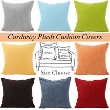 15 Colours Soft Corduroy Plush Cushion Cover Home Decor Throw Pillow Case Lounge