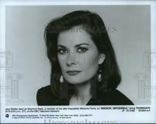 """1989 Press Photo Jane Badler stars as Shannon Reed on """"Mission: Impossible"""""""
