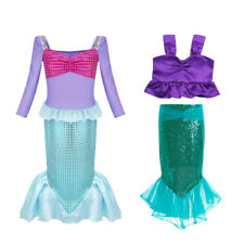 Kids Baby Girls Little Mermaid Outfit Princess Dress Party Cosplay Costume 2-12Y