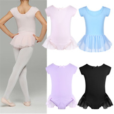 Girl Kid Ballet Leotard Dress Gymnastic Tutu Hip Skirt Dancewear Dancing Costume