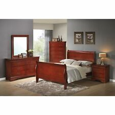 Coaster Company Louis Philippe Cherry Sleigh Bed Red