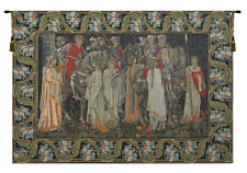 The Holy Grail With Border Belgian Medieval Woven Tapestry Wall Hanging NEW