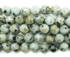 Kiwi Stone Jasper Faceted Gemstone Beads~Guaranteed