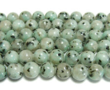 Kiwi Stone Jasper Round Gemstone Beads~Guaranteed