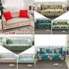Floral 1 2 3 Seater Stretch L-Shaped Sofa Lounge Couch Cover Slipcover Protector