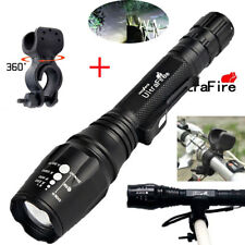 Zoomable Tactical 20000LM 5Modes T6 LED Flashlight Lamp Torch Light+bike clip#