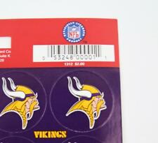 MINNESOTA VIKINGS Stickers 1-in. Round 1 Sheet NFL Football 19 Count