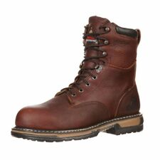 """Rocky Work Boots Mens 8"""" Ironclad Waterproof ST Brown FQ0006693"""